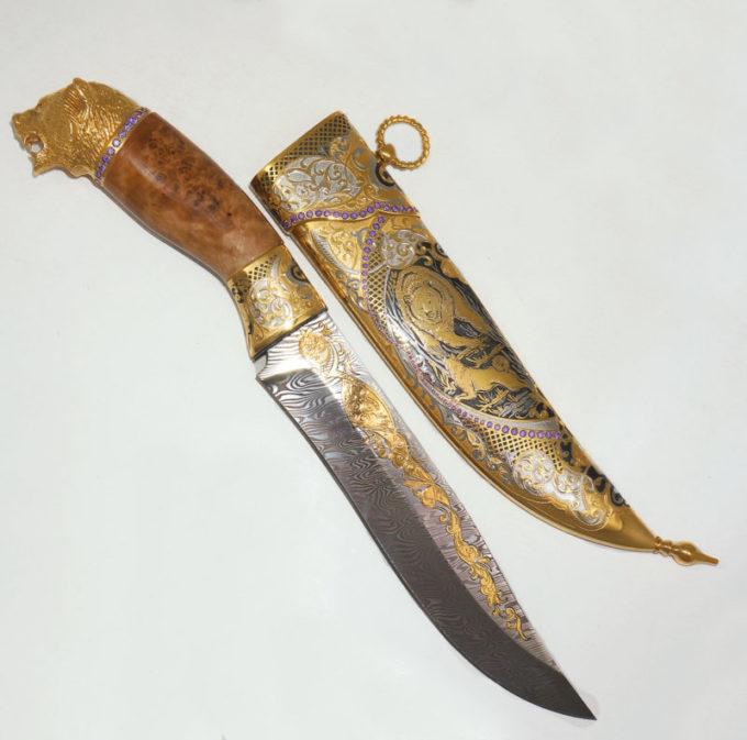 841ef6f5aafe9e10da616f59986af22a 680x673 - Нож медведь дамаск